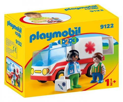 123 ambulanta si echipajul de salvare - Jucarii Playmobil -