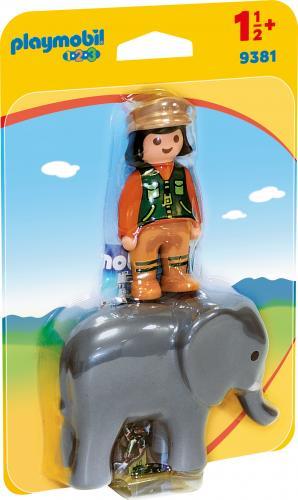 123 Ingrijitor Zoo Cu Elefant - Jucarii Playmobil -