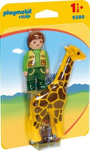123 Ingrijitor Zoo Cu Girafa - Jucarii Playmobil -
