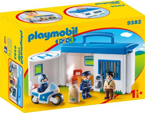 123 Set Mobil Statie De Politie - Jucarii Playmobil -