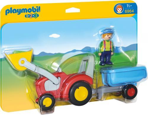 123 Tractor cu Remorca - Jucarii Playmobil -