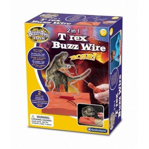 2 in 1 T Rex Buzz Wire Brainstorm Toys E2049 - Jucarii copilasi - Jucarii educative bebe