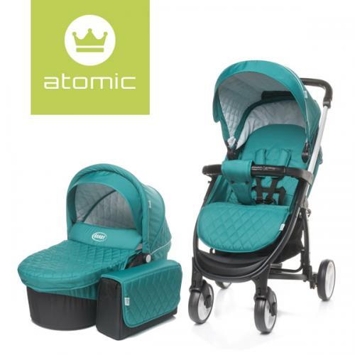 4Baby ATOMIC 2 in 1 Dark Turquoise - Carucior bebe - Carucioare 2 in 1