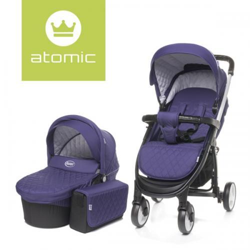 4Baby ATOMIC 2 in 1 Purple - Carucior bebe - Carucioare 2 in 1