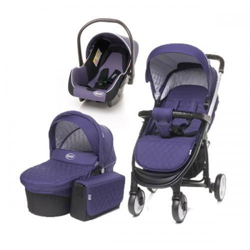4Baby ATOMIC 3 in 1 Purple - Carucior bebe - Carucioare 3 in 1