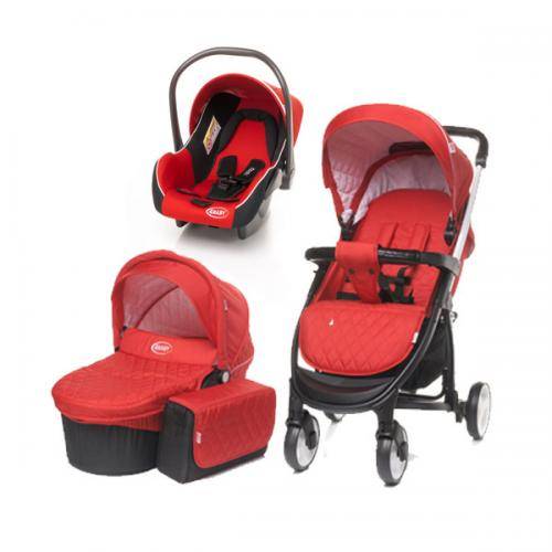 4Baby ATOMIC 3 in 1 Red - Carucior bebe - Carucioare 3 in 1