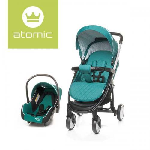 4Baby ATOMIC Travel System Dark Turquoise - Carucior bebe - Carucioare sport
