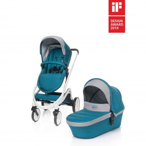 4Baby COSMO 2 in 1 Dark Turquoise - Carucior bebe - Carucioare 2 in 1