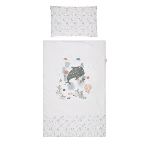Albero Mio Eco & Love set lenjerie 4 piese 120x80 cm - E001 Ocean - Camera bebelusului - Lenjerii patut
