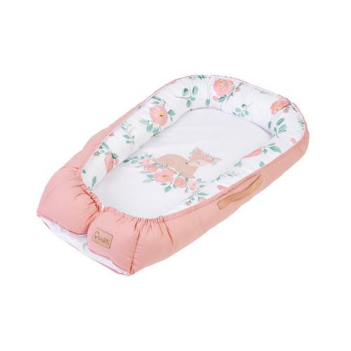 Albero Mio Nature & Love salteluta-cuib pentru bebelusi - N001 Rose - Perna bebelusi -