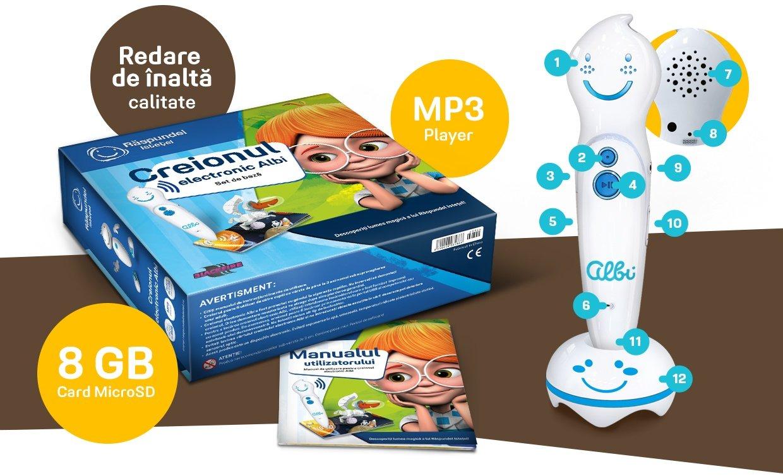 carti pentru copii vorbitoare creionul albi mp3