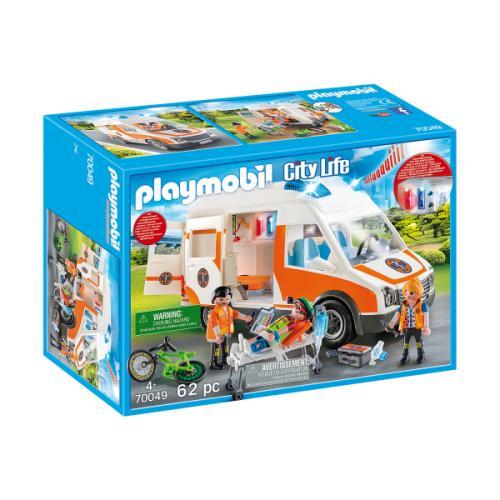 Ambulanta Cu Lumini Intermitente - Jucarii Playmobil -