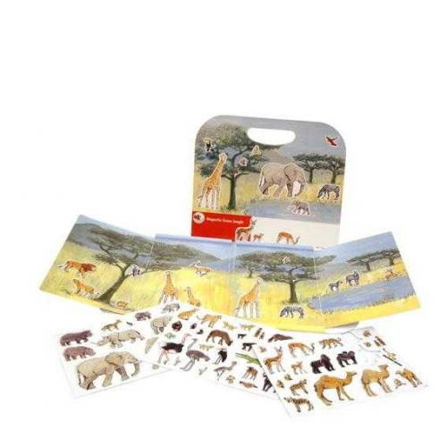 Animale din jungla - set magnetic - Jucarii copilasi - Jucarii educative bebe