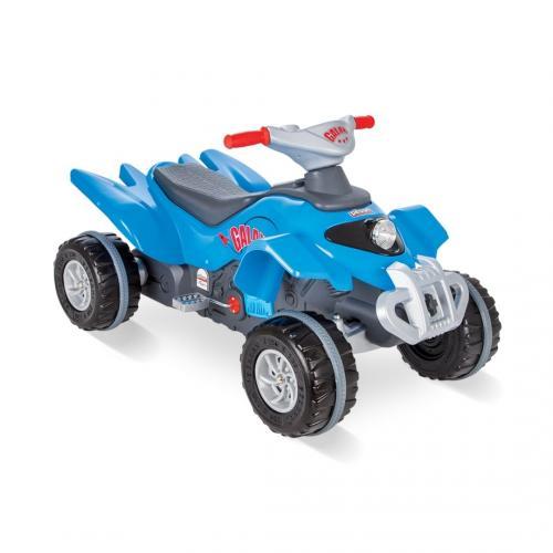 Atv cu pedale pilsan galaxy albastru - Plimbare bebe - Vehicule cu pedale