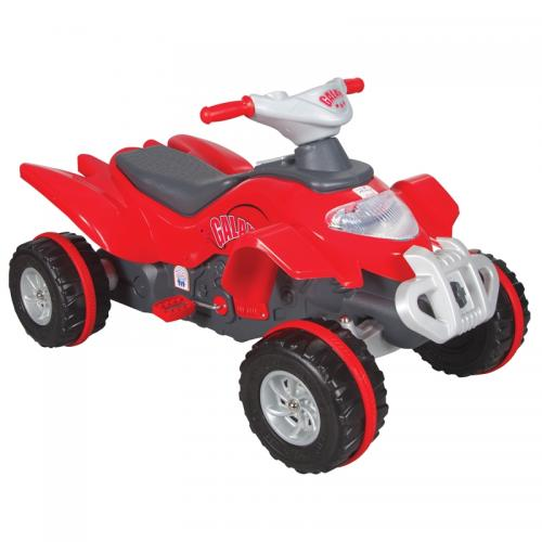 Atv cu pedale pilsan galaxy rosu - Plimbare bebe - Vehicule cu pedale