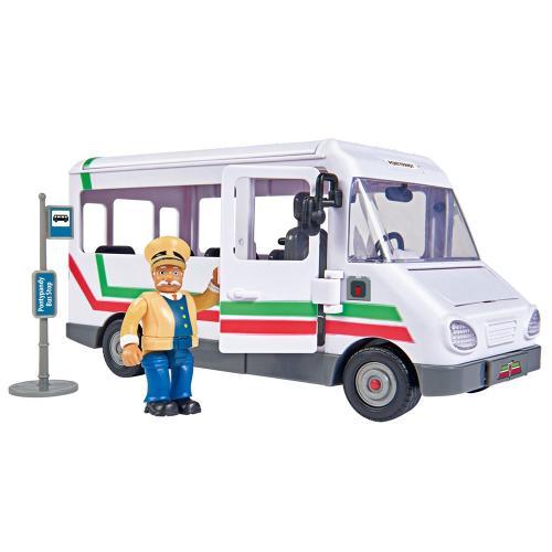 Autobuz Simba Fireman Sam Trevors Bus cu figurina - Jucarii copilasi - Avioane jucarie