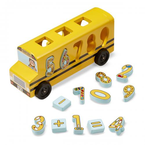 Autobuzul Cu Numere Melissa And Doug - Jucarii copilasi - Jucarii educative bebe