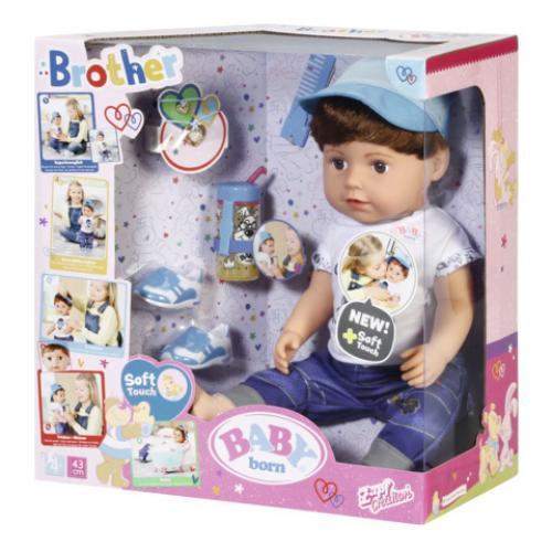 BABY born -Fratior interactiv 43 cm - Papusi ieftine -