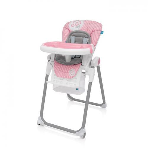 Baby Design Lolly 08 Pink 2017 - Scaun de masa - Hrana bebelusi - Scaun masa bebe