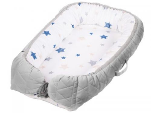 Baby Nest Klups Klups Velvet Gri V102 - Camera bebelusului - Baby nest