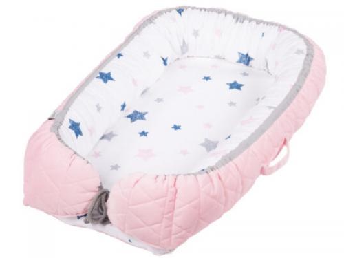 Baby Nest Klups Velvet Roz V101 - Camera bebelusului - Baby nest