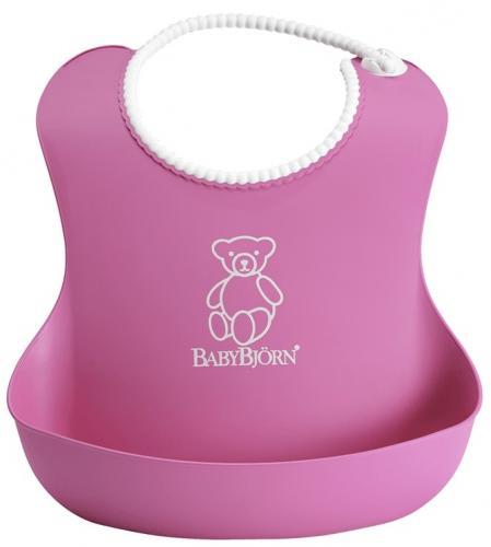 Babybjorn - bavetica moale soft bib pink - Hrana bebelusi - Baveta bebe