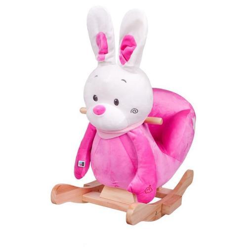 Balansoar cu melodii playto iepuras roz - Camera bebelusului - Leagane si balansoare