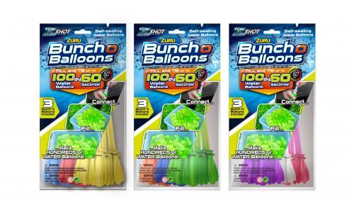 Baloane cu apa Bunch O Balloons - Rapid Fill Blue - Jucarii copilasi - Jucarie interactiva