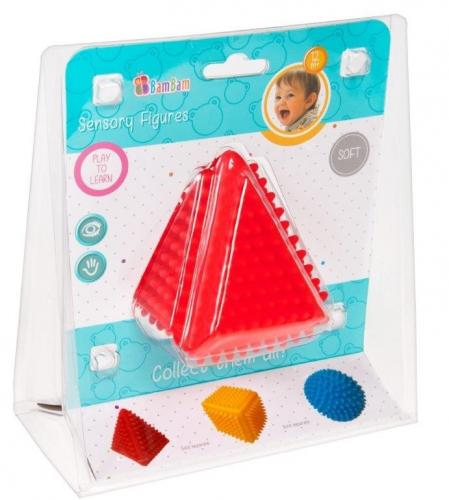 BamBam jucarie senzoriala - Triunghi - Jucarii bebelusi -