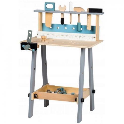 Banc de lucru cu unelte din lemn cu 32 de elemente ecotoys 1172 - Jucarii copilasi -