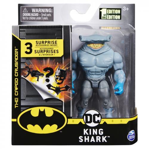 Batman figurina king shark 10cm cu 3 cate accesorii - Jucarii copilasi - Figurine pop