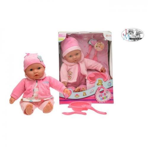 Bebelus 40 cm cu accesorii - Papusi ieftine -