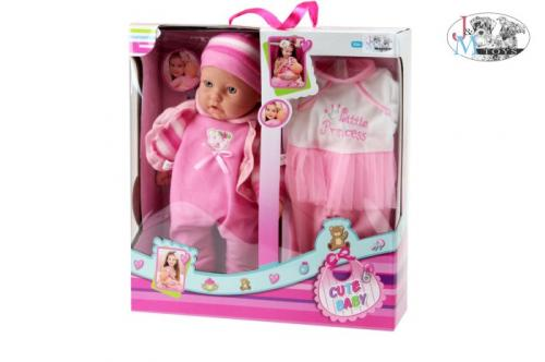 Bebelus 40 cm cu hainute de schimb - Papusi ieftine -