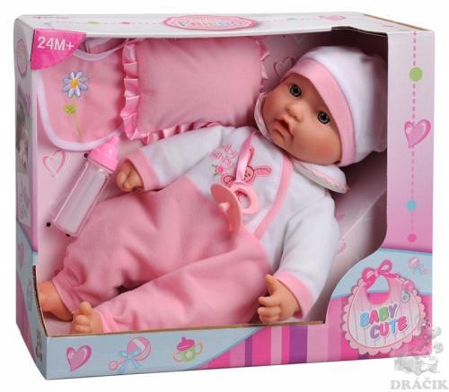 Bebelus 40 cm cu sticluta si babetica - Papusi ieftine -