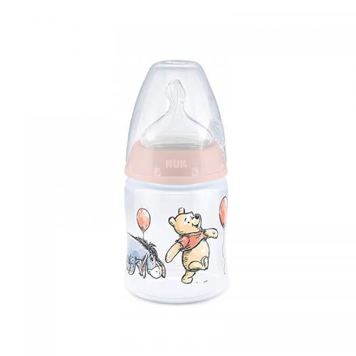 Biberon Nuk First Choice 150 ml Tetina Silicon Disney Roz 0-6 luni - Hrana bebelusi - Biberoane