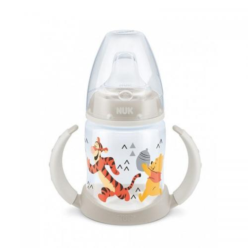 Biberon Nuk First Choice 150ml Cu Toarte Si Adaptor Din Silicon Disney Gri 6 luni+ - Hrana bebelusi - Biberoane