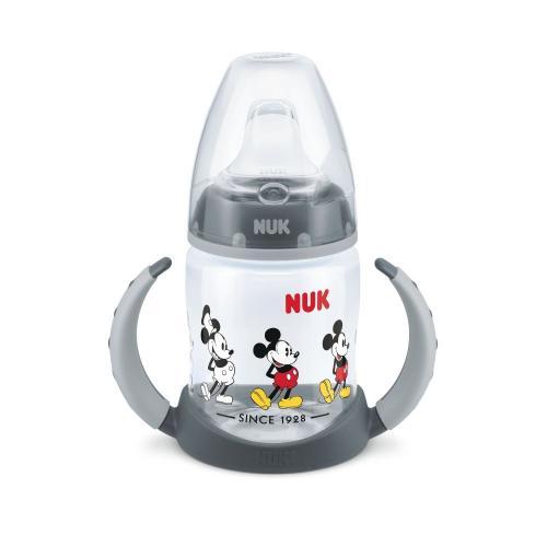 Biberon Nuk First Choice 150ml Cu Toarte Si Adaptor Din Silicon Mickey Gri 6 luni+ - Hrana bebelusi - Biberoane