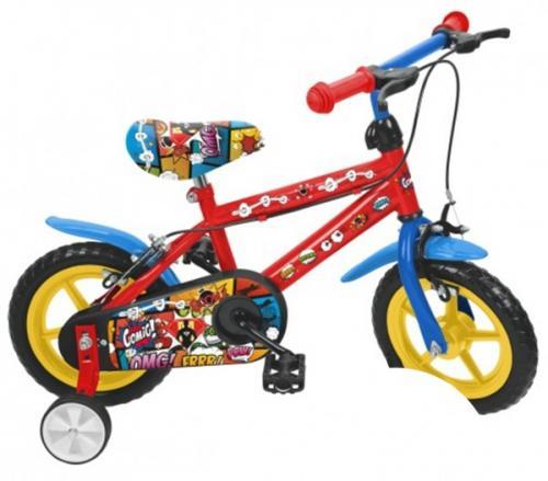 Bicicleta baieti Saica 2851 Comic roata EVA 12 inch - Plimbare bebe - Bicicleta copii
