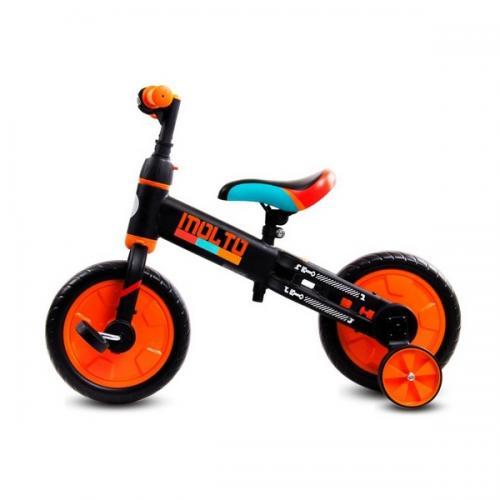Bicicleta cu sau fara pedale si roti ajutatoare sun baby molto 014 orange - Plimbare bebe - Triciclete copii
