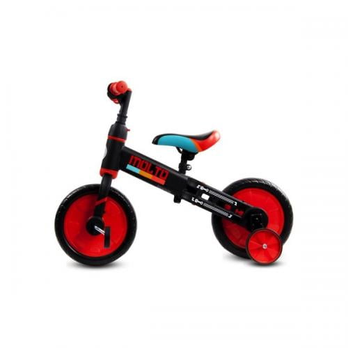 Bicicleta cu sau fara pedale si roti ajutatoare sun baby molto 014 red - Plimbare bebe - Triciclete copii