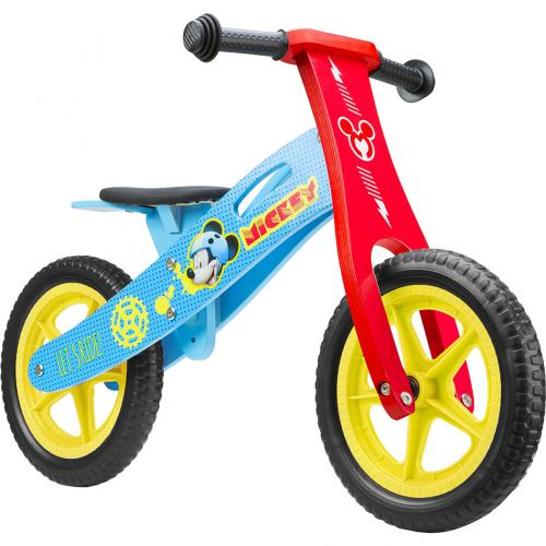 Bicicleta din lemn fara pedale 12 Mickey Seven SV9908 - Plimbare bebe - Bicicleta copii