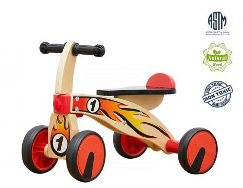 Bicicleta din lemn fara pedale - Plimbare bebe - Bicicleta copii