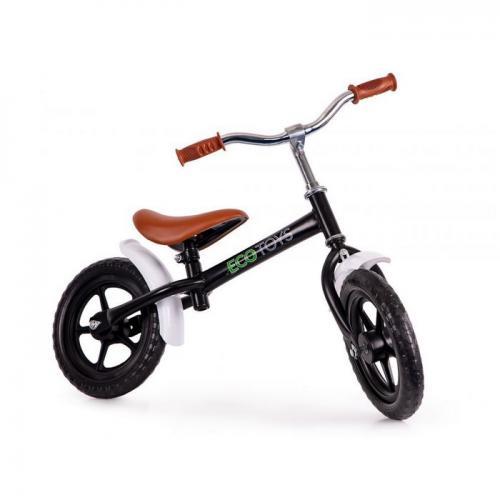 Bicicleta fara pedale cu aripi la roti ecotoys n2004 - negru - Plimbare bebe - Bicicleta copii