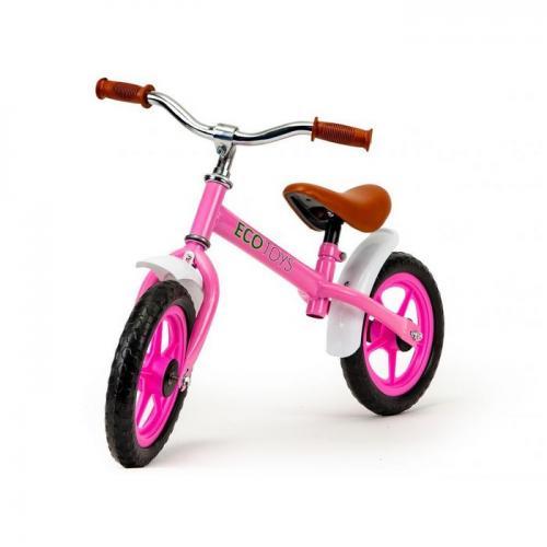 Bicicleta fara pedale cu aripi la roti ecotoys n2004 - roz - Plimbare bebe - Bicicleta copii