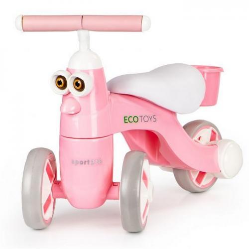 Bicicleta fara pedale cu led si sunet ecotoys n1009 - Plimbare bebe - Bicicleta copii