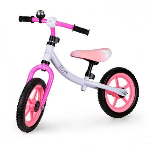 Bicicleta fara pedale ecotoys bw-1122 - roz - Plimbare bebe - Bicicleta copii