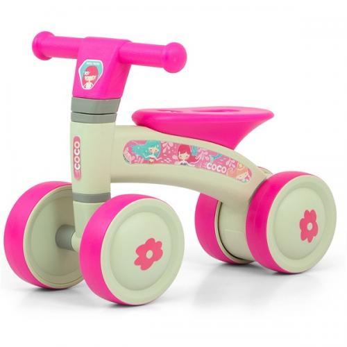 Bicicleta fara pedale Ride-On - Coco - Pink - Plimbare bebe - Bicicleta copii