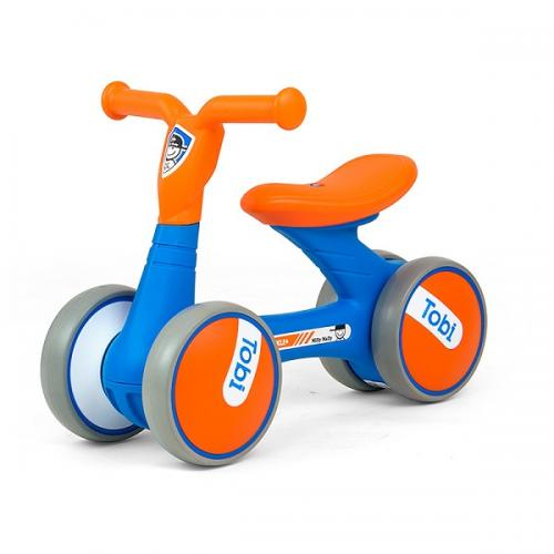 Bicicleta fara pedale Ride-On Tobi Orange Blue - Plimbare bebe - Bicicleta copii