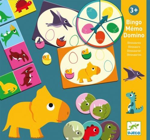 Bingo memo domino dino djeco - Jocuri pentru copii - Jocuri societate