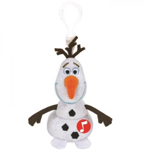 Breloc de plus cu sunete OLAF - Frozen 2 - 10 cm - Ty - Rechizite - Ghiozdane si trolere